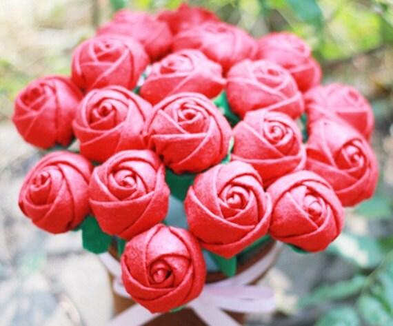 diy filz rose blume topfpflanze bunch von shinekidscrafts auf etsy. Black Bedroom Furniture Sets. Home Design Ideas