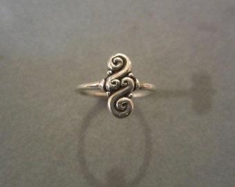 Sterling Silver Swirl Ring #R64SS