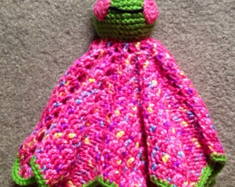 Friendly Froggie Lovey/Security Blanket- made to order