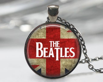 The Beatles Necklace, Music Pendant, Band Jewelry