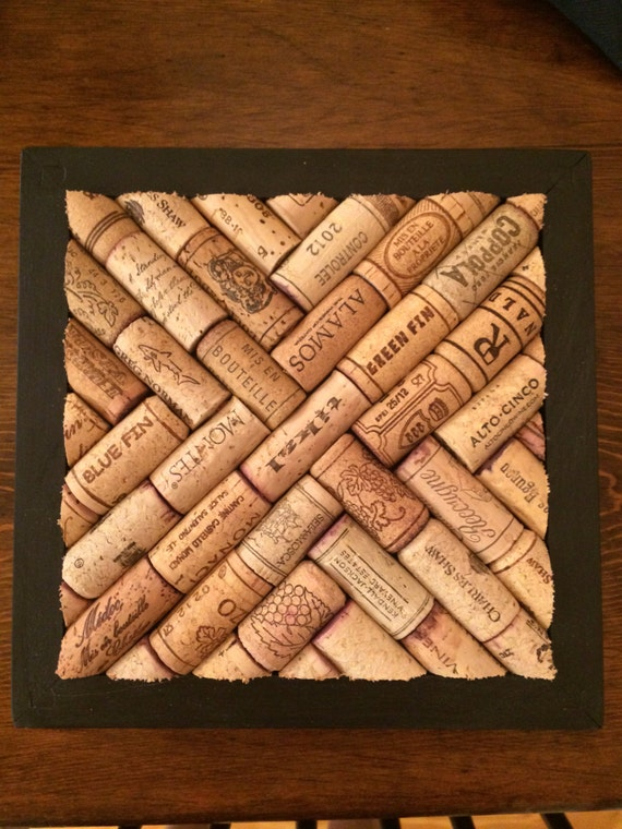 Unavailable listing on etsy for Making a cork board from wine corks