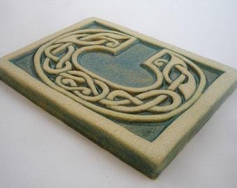 Letter C Celtic Knot Alphabet Tile