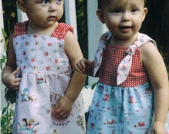 Katie J Jumper Girls Dress Sewing Pattern by Fishsticks 6 months to 5T