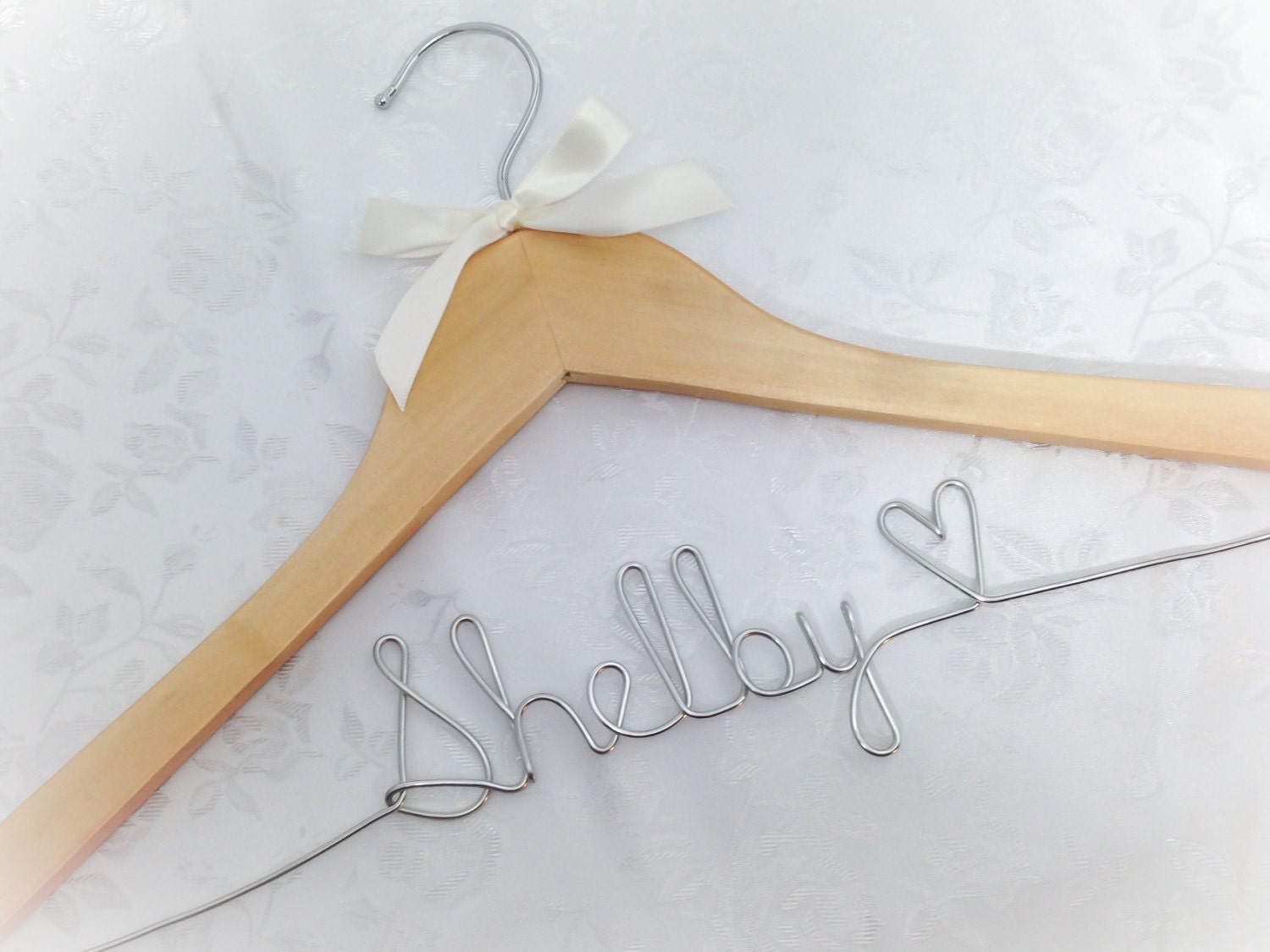 Hanger With Wire Name Wedding Photos Bridal Wire Wrapped