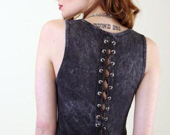 Corset Back Cotton Maxi Dress