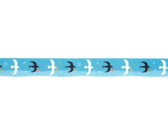 Bird Washi Tape - Blue Sky Washi Tape - Japanese Washi Tape - Kawaii Washi Tape - Die Cut Washi Masking Tape