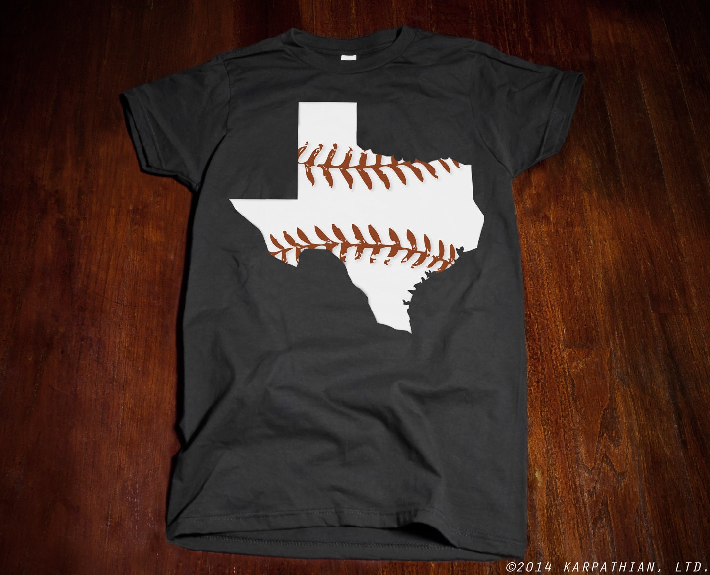 Free shipping texas baseball ladies junior fit t shirt by for Texas baseball t shirt