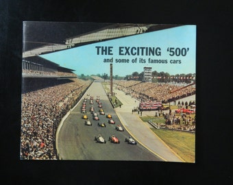 Vintage The Exciting 500 and Some of its famous Cars / Indianapolis 500 Booklet from 1964