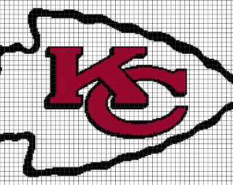 Crochet Pattern Kansas City Chiefs Afghan : Popular items for chiefs on Etsy
