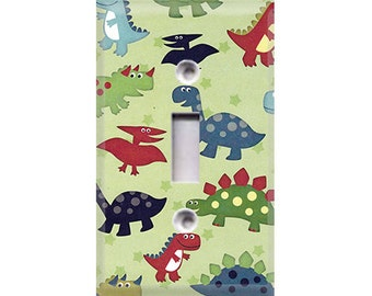 Kids Dinosaurs Pattern Light Switch Cover