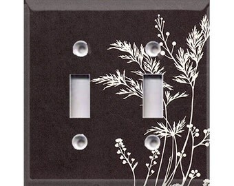 Nature Lover Collection - Branches Double Light Switch Cover