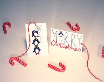set of 8 Christmas gift tags