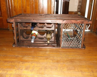 """Lobster Trap Coffee Table WINE RACK """"Made in USA"""""""