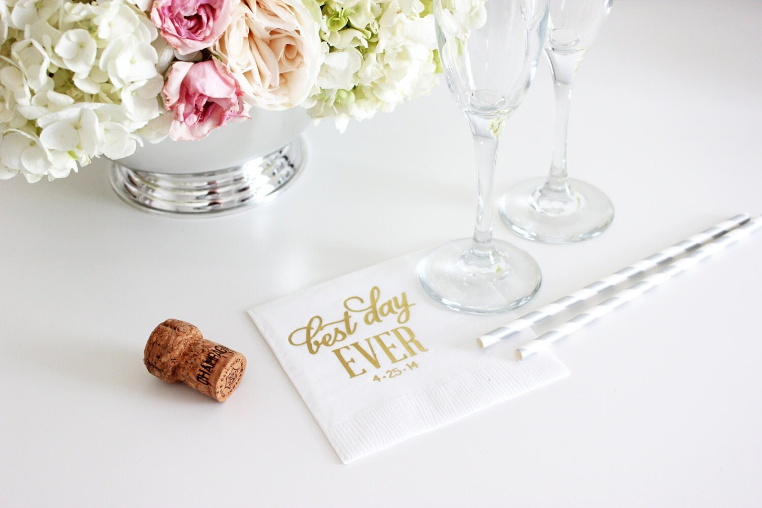 custom napkins gold foil napkins wedding by theyellownote