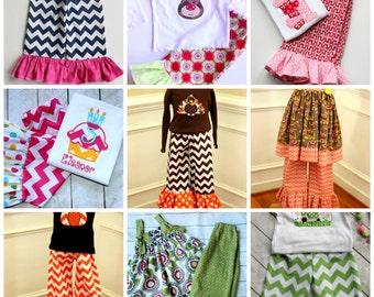 ADD matching ruffle pants listing Girls MATCHING one matching ruffle pants