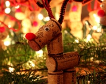 Wine Cork Reindeer Ornament, Reindeer Ornament, Christmas Ornament, Wine Cork Ornament, Wine Cork Decor, Reindeer, Christmas Tree, Holiday