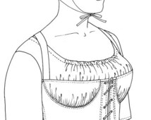"""PA038 - 1793-1820 Partially Boned """"Transition Stay"""" Sewing Pattern by Past Patterns"""