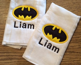 Batman Burp Cloth - Set of Two
