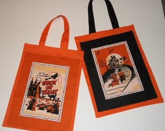 Retro Trick or Treat Bags