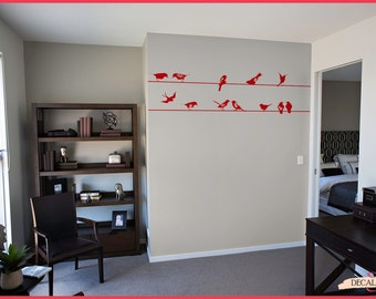 Wall Decal Birds on a Wire