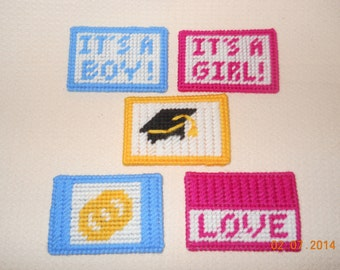 Gift card holders in Plastic canvas (4 designs)