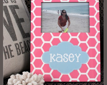 Personalized Picture Frame, Monogrammed Photo Frame, Custom photo frame, Photo Frame, 8 x 10 w/ 4 x 6