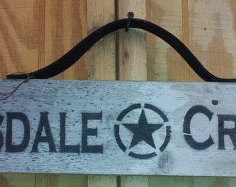 Clydesdale Crossing ~ Draft Horse - Repurposed Barnwood Sign