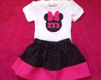 Minnie Mouse Toddler Skirt and Shirt