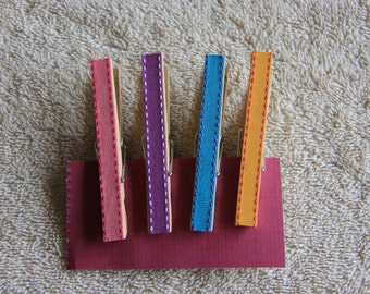 Decorative Multi-Colored Clothespins with or without magnets