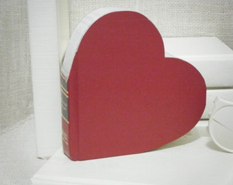 HEART SHAPE, Book Art, Unique Engagement Gift, Book Themed Wedding, Photo Prop, Cut Book Letters, Anniversary Gift, Book Lover Gift, Heart