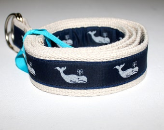 "Children's/Teen/Adult Adjustable Preppy Whale Belt Multiple Color Options-1.25"" Wide"