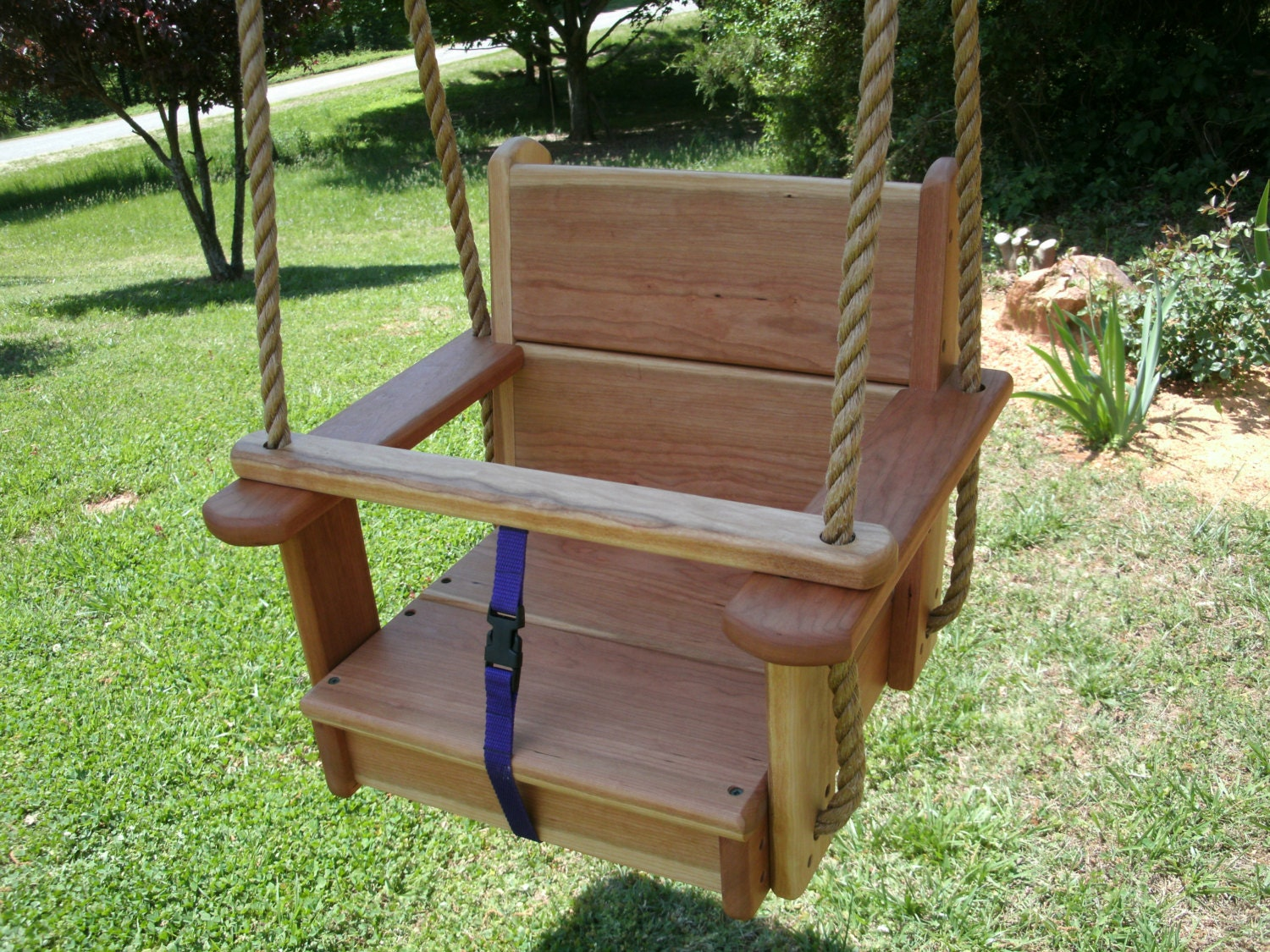 Wood tree swings cherry toddler seat for How to make wooden swing seat