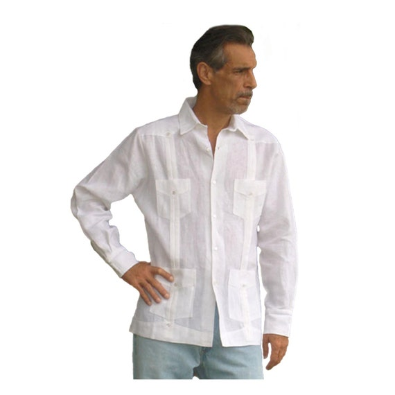 guayabera lin homme chemise mariage mexicain chemise. Black Bedroom Furniture Sets. Home Design Ideas