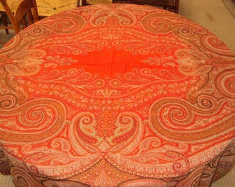 Antique Paisley Shawl, 1800's 62 by 116 inches,