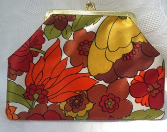 Elegant Vintage Clutch Coin Purse in bright Harvest Colors
