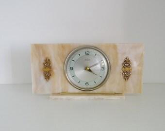 Vintage Clock Retro Mantel Shelf Clock, Original Condition Key Wound Movement by Smiths Tempora, Great Britain - circa 1970's