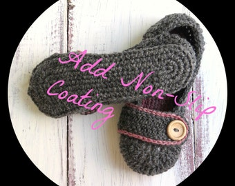 Add Non-Slip Natural Latex Coating to Your Slippers from StoneyCreekKnitters