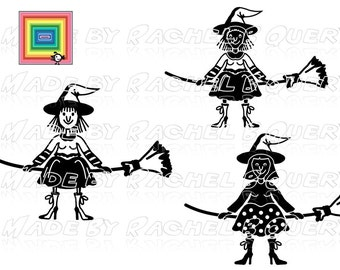 Witch witches broom Halloween SVG DXF Jpeg commercial use