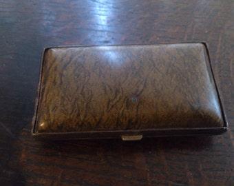 Vintage small hard plastic/celluloid cigarette case