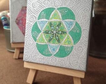 Original Mandala painting: Mandala 7-5cmSQ-12
