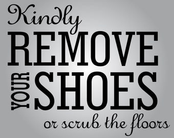 Remove Shoes Decal Etsy - Custom vinyl sign stickers   removal options