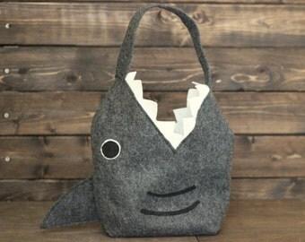 Monogrammed Shark Bag // Jaws bag