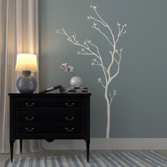Oriental Tree Wall Decal Living Room Stickers Hallway Wall - Wall decals hallway