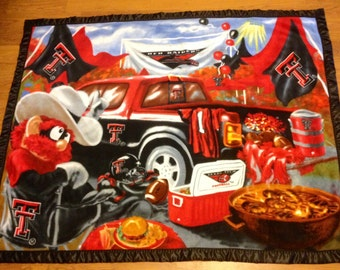 Texas Tech University Tailgate Party Double-Sided Fleece Blanket