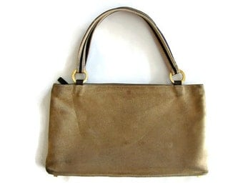 Suede bag Kate Spade hand purse Beige suede purse Vintage designer bag Authentic bag Brown leather purse Small suede bag Made in Italy bag