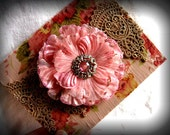 Huge Pink Flower Blank Greeting Card - French Cottage Chic Feminine