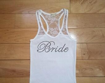 Bride Tank . Custom Bride Tank Top. Bride Lace Tank . Bride Tank Top . Bride Gift