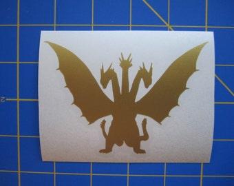 King Ghidorah Decal/Sticker #3 - 3X4