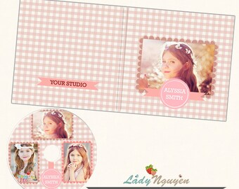 Instant Download CD/DVD Label and cover templates - CD040