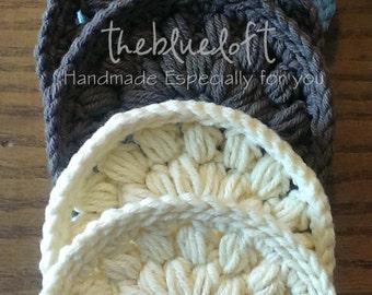 Crochet Coaster Pattern Crochet Puff Stitch Coasters
